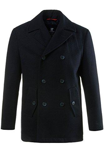 JP 1880 Herren große Größen bis 7XL, Cabanjacke, Mantel mit hochwertiger Woll-Qualität, Reverskragen Navy XXL 700196 70-XXL