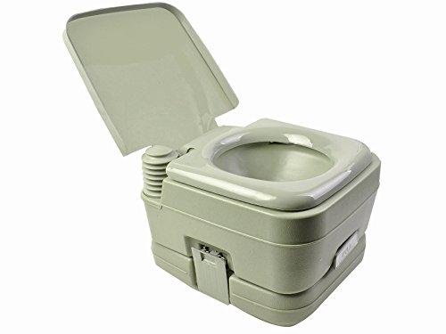 Giantex 2.8 Gallon 10L Portable Toilet Travel Camping Outdoor/Indoor Toilet Potty Flush (Green)