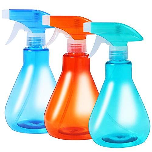 YANGTE - Botellas de pulverización vacías de 500 ml, rocío fino, modos de niebla y de corriente para limpieza, paquete de 3
