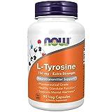 NOW Supplements, L-Tyrosine 750 mg, Supports Mental Alertness*, Neurotransmitter Support*, 90 Veg Capsules
