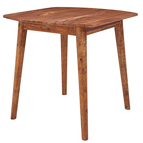 FineBuy Esszimmertisch FB13231 Holz 80x80x76 cm Sheesham Massivholz Tisch | Designer Küchentisch | Massivher Holztisch Rustikal | Speisetisch Massives Echt-Holz Modern