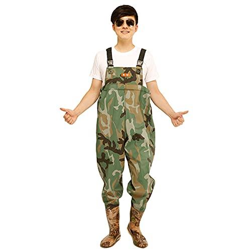 CAMILYIN PVC Impermeables Vadeadores de Pesca para Hombre,Pantalón Impermeable de Una Pieza, Pantalones de Vadeo de Media Longitud para Hombres de Pesca,3,36