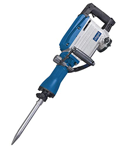 scheppach Abbruchhammer AB1600 (1600 Watt, 50 Joule, inkl. Sechskant-Aufnahme Ø 30mm Spitz- und Flachmeißel und Metallkoffer)
