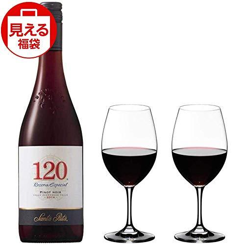 【福袋】サンタ・リタ 120(シェント・ベインテ) ピノ・ノワール 赤ワイン 750ml チリ ペアグラスセット350ml付き