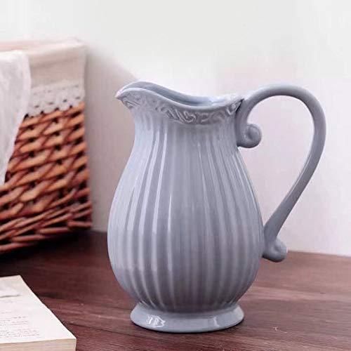 Pastel Krug Keramik Kanne Karaffe Milchkrug (Grau)
