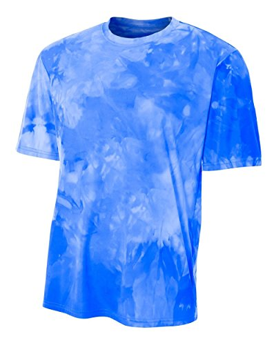 Authentic Sports Shop Royal Blue Youth XL Cloud Dye Tech Moisture Wicking Cool Base Tee