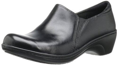 Clarks Women's Grasp Chime Slip-On Loafer, Black, 8 M US