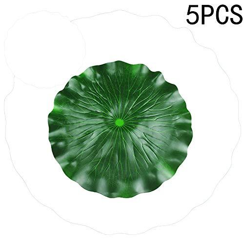 Feuilles de lotus flottantes artificielles vertes pour décoration de terrasse, étang à poissons koï, bassin de piscine, aquarium (C)