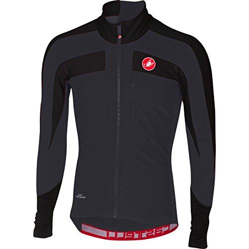 Castelli–Trasparente 4Jersey–Camiseta de ciclismo para hombre, color negro, tamaño extra-large