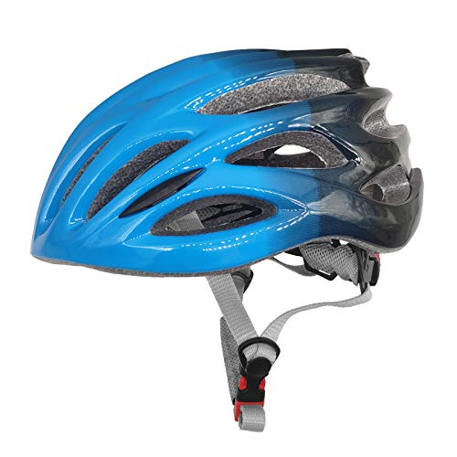 BukyTom Casco De Ciclismo Casco De Bicicleta De Bicicleta Ajustable para Mujeres Hombres CE Certificado Casco DE Bicicleta DE MONTAÑA(Color:Azul)