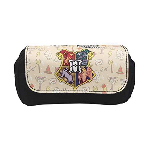 Trousse à crayons Harry Potter, ALHX grande capacité, double fermeture éclair, trousse à crayons de bureau, organiseur avec compartiments pour filles, garçons et adultes