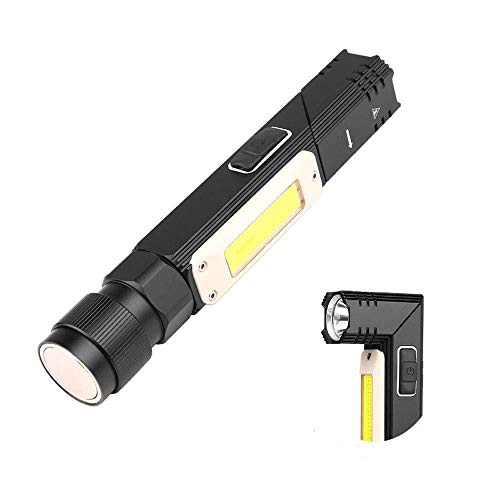 ZÖNNLite Flashlight Rechargeable 90 Degree Head Rotatable 2000 Lumens Super Bright BuiltIn Battery 5 Modes LED Magnetic Bottom Indoor/Outdoor Camping Hiking Light