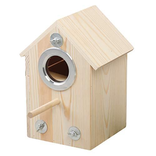 zijianZZJ Sittich-Nistkasten Vogelhaus Holz Brutkasten Outdoor Brutkasten Brutkasten Nest Hüttenspielzeug
