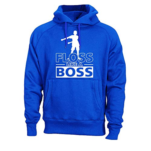 Kids Floss Like a Boss Flossin Dance Youth Adult Hoodie Sweatshirt (Royal, Youth L)