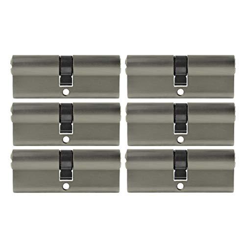 6x Zylinderschloss 80 mm PZ 40/40 gleichschließend inkl. 20 Schlüssel