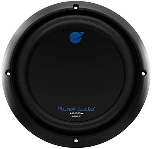 Planet Audio AC8D 8 Inch Car Subwoofer - 1200 Watts Maximum Power, Dual 4 Ohm Voice Coil, Sold Individually