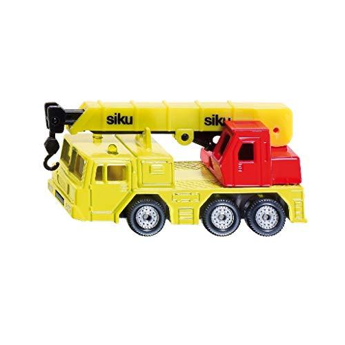 Siku 27665 1326, Hydraulischer Kranwagen, Metall/Kunststoff, gelb/rot, Hubfähiger Kranarm