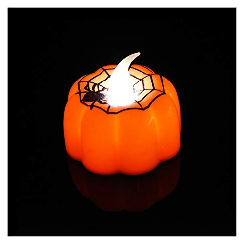 junranxingpifabu 1 Pc Small Pumpkin Night Light Halloween Decoration Props Flashing Flameless Candle Light Family Holiday Party Bar Decoration Holiday Decorations (Color : N02)