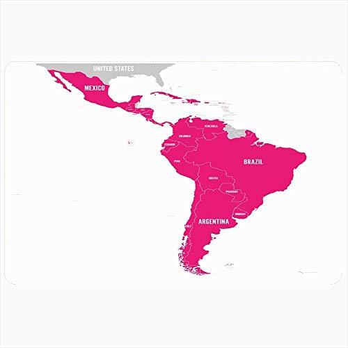 Alfombra de baño para baño Alfombrillas antideslizantes Español en Uruguay Sur de Cuba Político Tierra Atlas Mapa de cartografía de viajes Francés Chile Perú Decoración felpa latina Alfombrilla antide