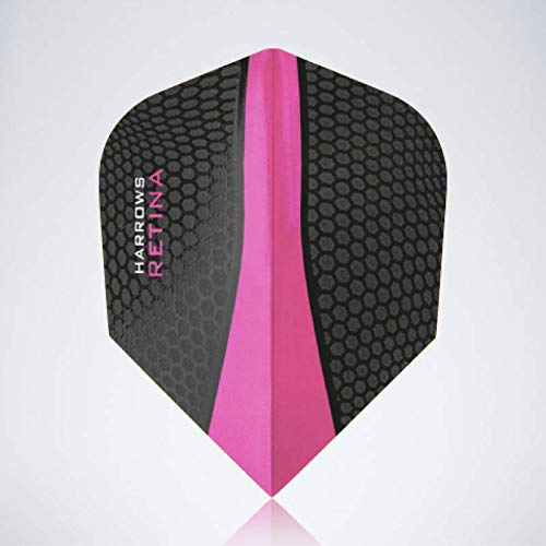 myDartpfeil Pinke Standard Dart Flights | HARROWS Retina aus Kunststoff | 3er Flight Set | Dartpfeil Flyer