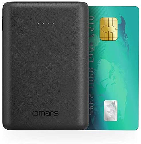 Omars 5V Powerbank 10.000 mAh kleines, leichtes und tragbares Ladegerät, USB-C- und 2 USB-A-Ports für iPhone, Huawei, Samsung und Typ-C-Gerät
