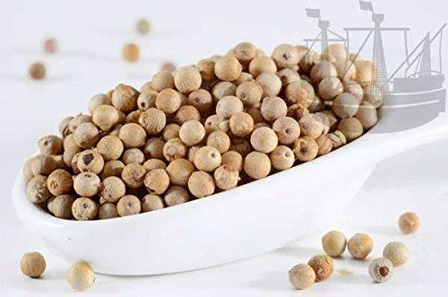 Pfeffer weiß, ganz, 1A Sarawak, ohne Geschmacksverstärker, 150g - Bremer Gewürzhandel - Bremer Gewürzhandel