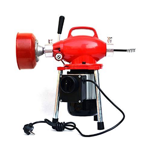 YCX Pozzi Neri Tubo di Macchina Scarico Pulito Pulizia Auger Tubo con 12,5 m spirali,Rosso