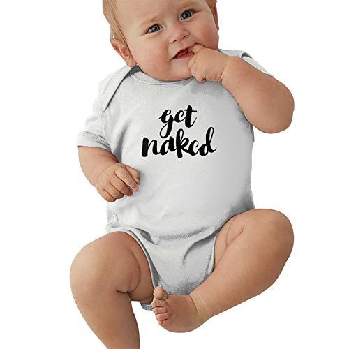Get Naked Baby Boys Pijama Unisex Romper Baby Girls Body Infant Kawaii Jumpsuit Outfit 0-2t Niños,Blanca,0-3 Meses