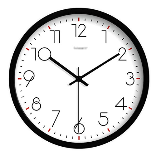Art wall-clock XZGang Indoor Wanduhr, Restaurant Stille Wanduhr Moderne Einfache Quarz-Taktgeber Weiß-Schwarz-Silber Wanduhr 12 Zoll -Dekorate Ort des Lebens (Color : C, Size : 12 inches)