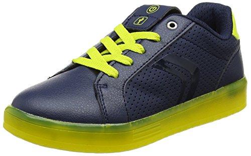 Geox Jungen J KOMMODOR Boy B Sneaker, Blau (Navy/Lime), 30 EU