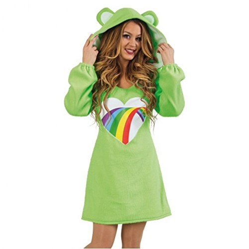 Damen Kostüm Bärli Kleid grün Bärchen Fasching Bär Spaßkostüm (M)