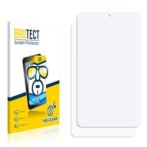 BROTECT Schutzfolie kompatibel mit irulu eXpro X1S (8.1) Plastic Rear (2 Stück) klare Bildschirmschutz-Folie