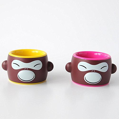 A di Alessi Banana Ring Set de 2 ronds de serviette en résine thermoplastique décoré à la main - Rouge et Jaune