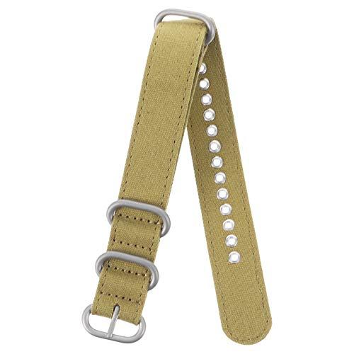 Baluue Correa de Reloj de Lona con Hebilla Pesada 20Mm Cinturón de Seguridad Premium para Deportes Bandas de Reloj de Nylon Correa de Reloj de Pulsera de Repuesto