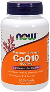 NOW CoQ10 Co-Enzyme Q10 600 mg - 60 Softgels