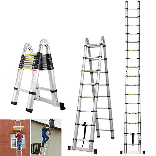 Autobaba 5m Telescopic Folding Ladder