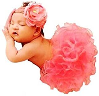 Newborn Baby Photography Prop, CiaraQ's Girl Tutu Skirt with Headband Outfits, Baby Photo Prop, Crochet Baby Clothes
