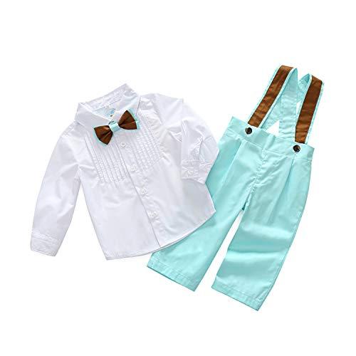 PUJIANGxian boy heer gemengde kleuren herfst hak delen pak hemd slabbetje stijl