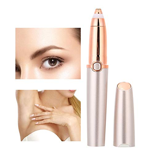 Cadeaux de mai Épilateur à sourcils, tondeuse à sourcils, rasoir à sourcils portable pour épilation des lèvres du nez et du visage