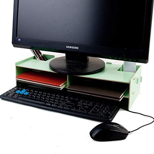 chishizhenxiang SS & LL WoodSturdy Ergonomischer Tischmonitorhalter Schnelle Installation mit Aufbewahrungsbildschirm Bildschirmhelligkeit