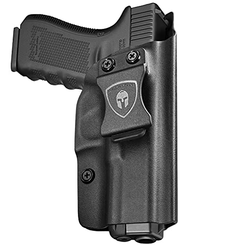 IWB KYDEX Holster Custom Fit: Ruger LC9 / Ruger LC9S / Ruger LC380 / Ruger EC9S Pistol, Inside Waistband Concealed Carry Holster for Men / Women, Cover Mag Button, Adj. Cant & Retention, Right