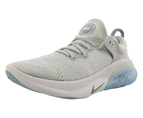 Nike Women's Joyride Run Flyknit Running Shoes (8.5, Light Silver/Metalli Silver/Ocean C)