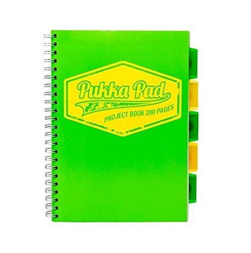 Pukka Pad Neon Project Book A4, grün