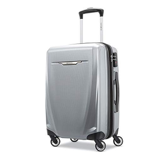 Samsonite Winfield 3 DLX Hardside Expandable Luggage with Spinners, Silver