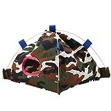 Hamac à Oiseaux, Tente de Pendaison de Perroquet en Forme de Dessin animé avec Corail, décor de Cage pour Tapis pour Petits Oiseaux de Perroquet Furet Perroquet Rat Hamster (# 7 Camouflage)