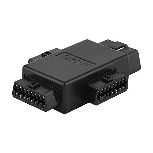 iKKEGOL Pocket OBD2 OBDII Full 16 Pin Male to 3 Female 1 to 3 OBD Cable Splitter Converter Adapter for Diagnostic Extender