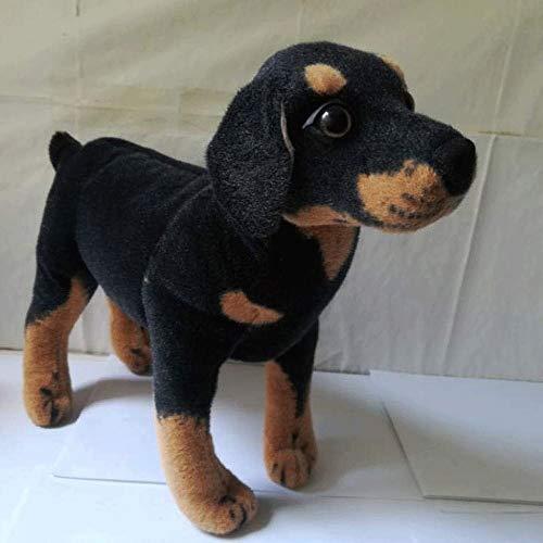 DXMRWJ Peluches Peluches Grandes 50Cm Pie Rottweiler Perro Simulación Peluche Muñeca Suave Regalo de cumpleaños