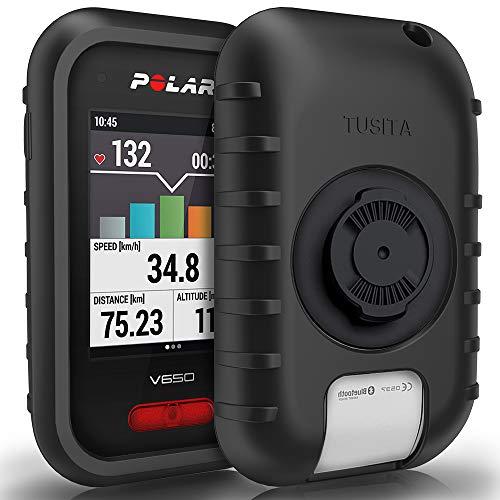 TUSITA Hülle für Polar V650 - Silikon Schutzhülle Skin - GPS Bike Computer Zubehör