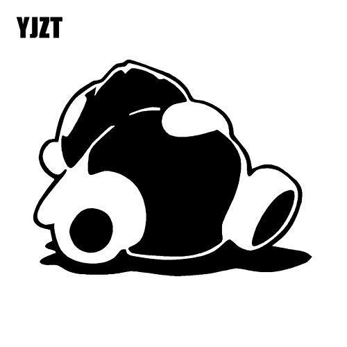 JYIP 14 7X11 4 CM Cartoon Animals Sleeping Panda Vinyl Car Sticker Creative Jdm Black/White C26-0026-Black