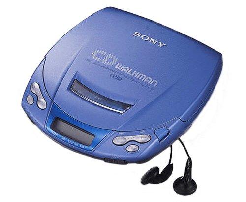 Sony D-E201/L tragbarer CD-Player blau